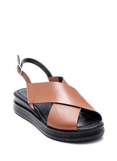 Derimod Kadın Deri Sandalet Taba